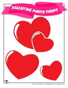 Printable Red Heart Photo Props