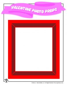 Printable Red Valentine Photo Frame