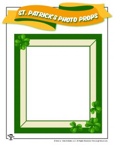 Printable St. Patrick's Day Photo Frame