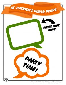 Printable St. Patrick's Day Speech Bubbles