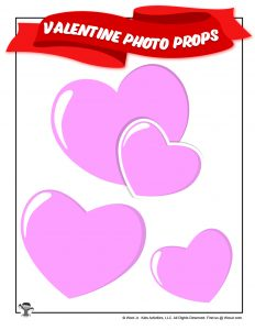 Printable Valentines Day Hearts Photo Prop