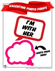 Printable Valentines Day Photo Props