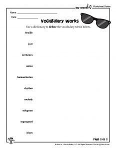 Ray Charles Vocabulary Word List II