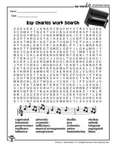 Ray Charles Word Search