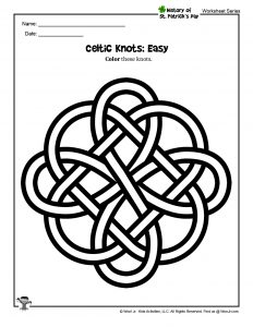 St. Patrick's Day Easy Coloring Page
