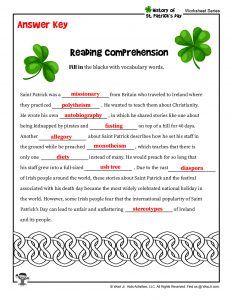 St. Patrick's Day Lesson Plan Printable