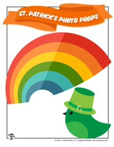 St. Patty Rainbow & Bird Photo Props