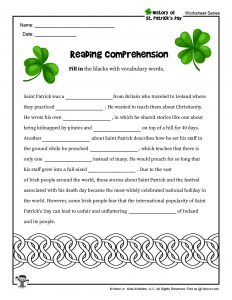 St. Patrick's Day School Lesson Plan