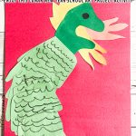 Hand Print Lunar New Year Dragon Activity