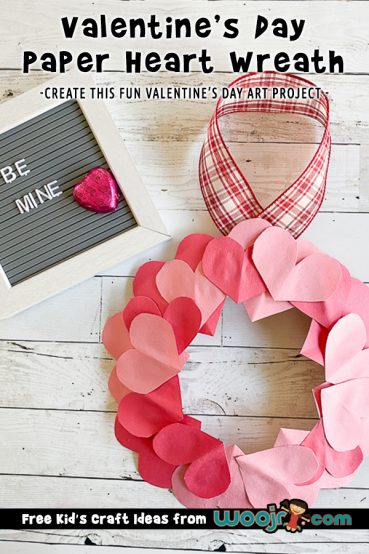Valentine's Day Heart Wreath Project
