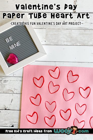 Valentine's Day Heart Art Project for Little Kids