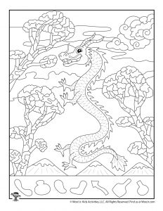 Year of the Dragon Hidden Picture Page
