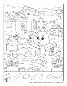 Year of the Rabbit Chinese Zodiac Hidden Pictures