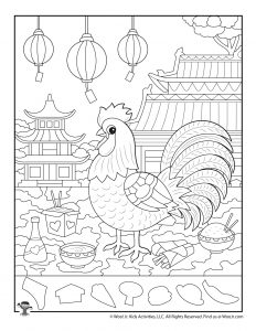 Year of the Rooster Chinese New Year Hidden Pictures
