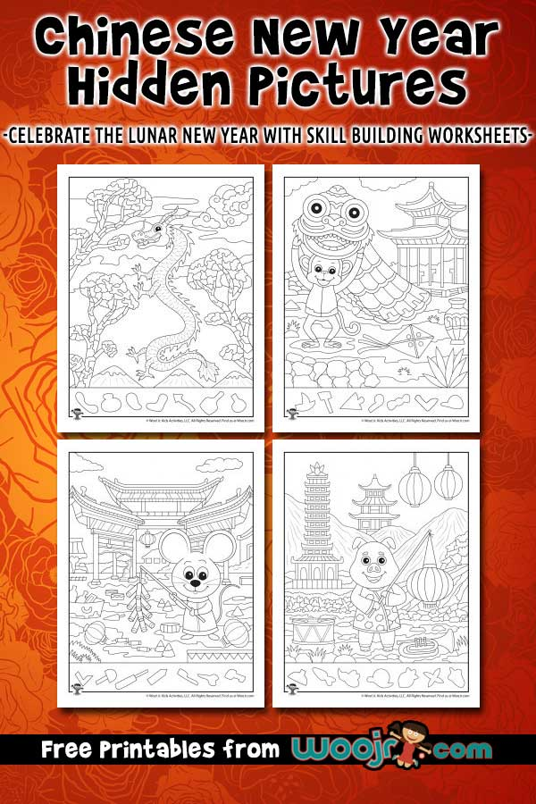Chinese New Year Hidden Pictures Woo! Jr. Kids Activities