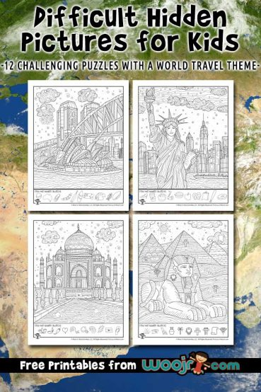 Difficult Hidden Picture Puzzles for Kids – World Travel