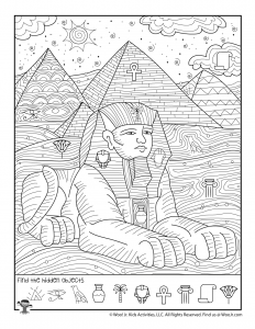 Egypt Pyramids Sphinx Hidden Activity Page