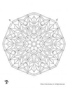 Printable Mandala Maze for Kids