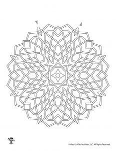 Mandala Labyrinth Kids Activity Page