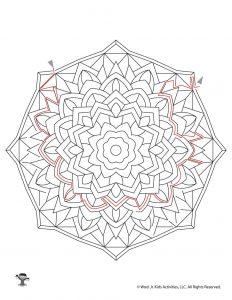Mandala Maze Activity for Kids - KEY