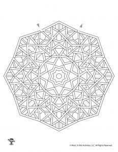 Mandala Maze Printable Page
