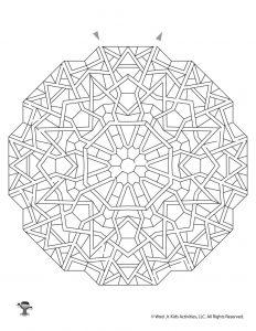 Mandala Printable Maze for Kids