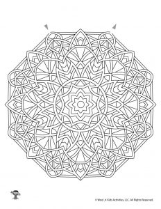 Mandala Printable Maze Worksheet