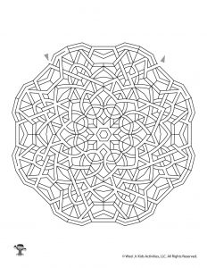 Mandala Printable Maze Activity