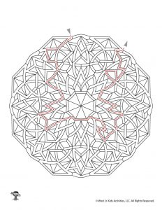 Maze Mandalas for Kids - KEY