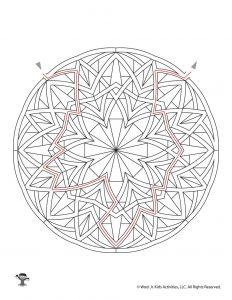 Mandala Maze for Kids - KEY