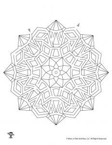 Mandala Maze Activity Page for Kids