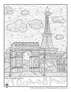 Paris Eiffel Tower Hidden Object Printable