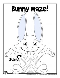 Bunny Spring Maze Activity