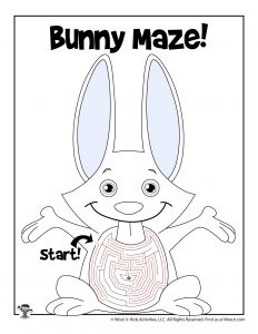 Bunny Spring Maze Activity - ANSWER KEY