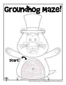 Groundhog Spring Maze Activity Page - KEY