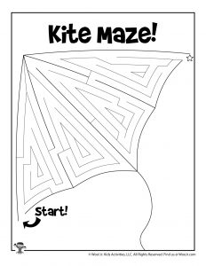 Spring Kite Maze for Kids