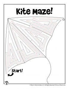 Spring Kite Maze for Kids - KEY