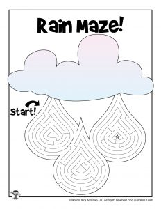 Spring Rain Labyrinth Maze for Kids