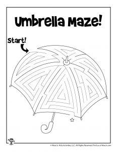 Umbrella Spring Maze Puzzle
