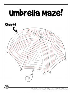 Umbrella Spring Maze Puzzle - KEY