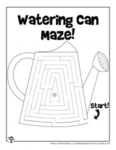 Spring Watering Can Maze for Kids