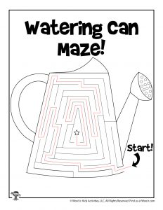 Spring Watering Can Maze for Kids - KEY