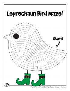 Leprechaun Bird St. Patty's Day Labyrinth