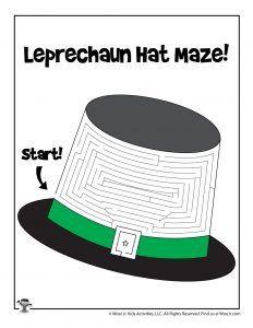 Leprechaun Top Hat St. Patrick's Day Maze