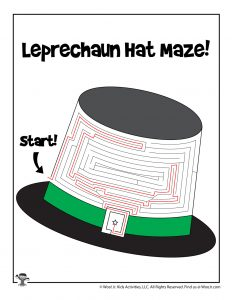 Leprechaun Top Hat St. Patrick's Day Maze - ANSWER KEY