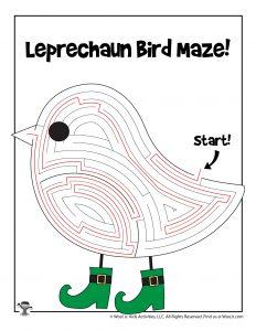 Leprechaun Bird St. Patty's Day Labyrinth - KEY