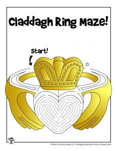 Claddagh Ring St. Patty's Day Maze Activity Sheet