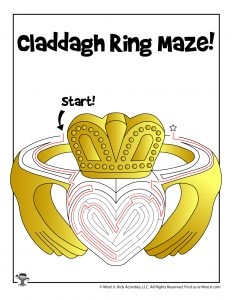 Claddagh Ring St. Patty's Day Maze Activity Sheet - ANSWER KEY