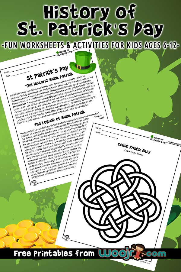 History of St. Patrick's Day Lesson Plan & Worksheets