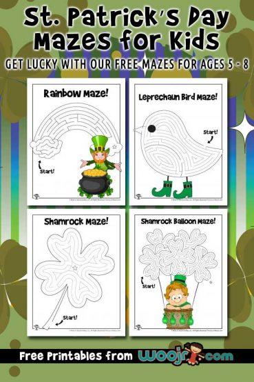 St. Patrick's Day Mazes